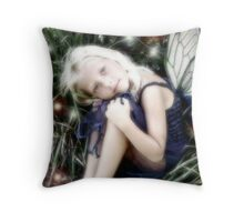 lost little fairy Throw Pillow