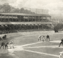 Vintage Baseball Game Sticker