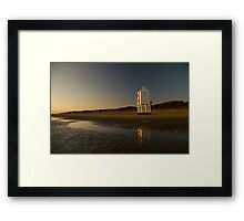Burnham-on-sea 'low' lighthouse. Sunset. Framed Print