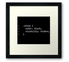 CSS Coding Ninja  Framed Print