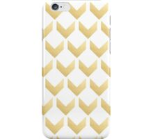 Gold Chevron pattern Hex by row iPhone Case/Skin