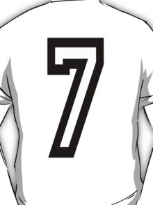 TEAM SPORTS, NUMBER 7, SEVENTH, SEVEN, Competition T-Shirt