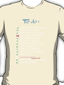 Commander Shepards To-Do List T-Shirt