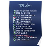 Commander Shepards To-Do List Poster