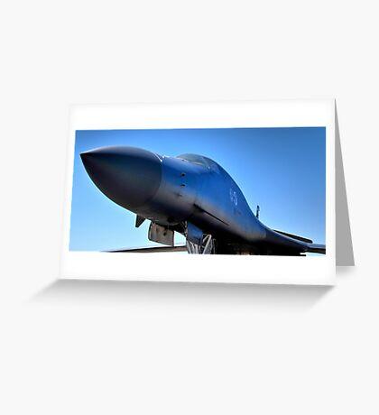 BOEING B1-B LANCER AIR FORCE BOMBER  Greeting Card