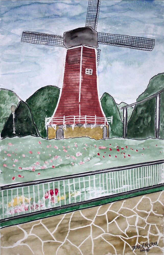 Holland Windmill Painting poster print by derekmccrea
