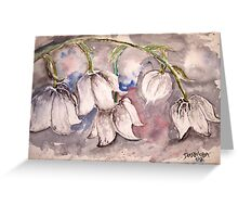 Lily of the Valley Flower watercolor painting poster print Greeting Card