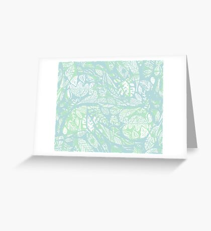 Floating on water Greeting Card