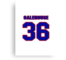 National baseball player Denny Galehouse jersey 36 Canvas Print