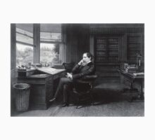 Portrait of Charles Dickens in His Study Kids Clothes