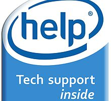 Funny Intel Parody Logo Computer Tech Support by andabelart