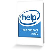 Funny Intel Parody Logo Computer Tech Support Greeting Card