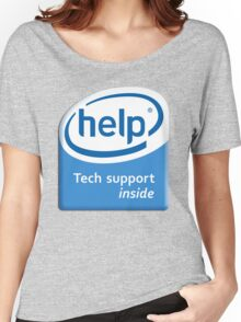 Funny Intel Parody Logo Computer Tech Support Women's Relaxed Fit T-Shirt
