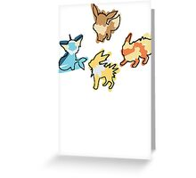 Eevee Vaporeon Jolteon Flareon Greeting Card