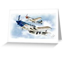 "P51 Mustangs ""Little Friends"" Greeting Card"