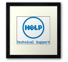 Funny Dell Parody Logo Computer Tech Support Framed Print