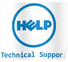 Funny Dell Parody Logo Computer Tech Support Poster