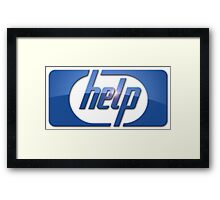 Funny HP Parody Logo Computer Tech Support Framed Print