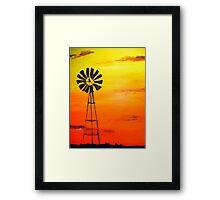Sunset Outback  Framed Print