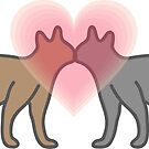 Cats in love by portokalis