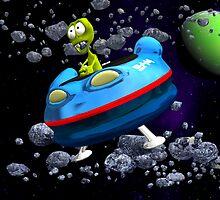 Albie Alien's Wild Ride in Space by jakiblue