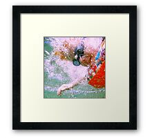 Jumping Through Hoops Framed Print