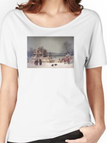 American Winter Scene Women's Relaxed Fit T-Shirt