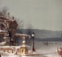 American Winter Scene Sticker