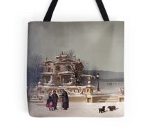 American Winter Scene Tote Bag