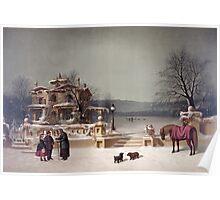American Winter Scene Poster