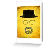 "Heisenberg's Haberdashery - ""Hazmat Suit"" Yellow Greeting Card"