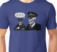 Skeleton Police (Blue) Unisex T-Shirt