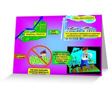 Windfall Profits--Are They Being Used Appropriately? Greeting Card