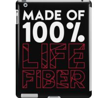 Made of 100% Life Fiber - White iPad Case/Skin