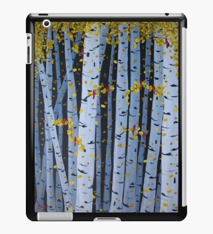 Ten Cardinals In Birch Trees iPad Case/Skin