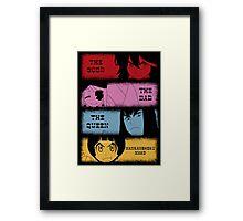 The good, The Bad, The Queen & Mankanshoku Mako Framed Print