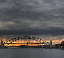 Sydney Harbour Summer Storm and Sunset by Stephen Kilburn