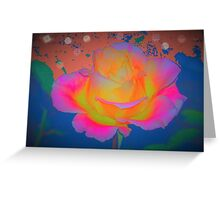 Rose color blast Greeting Card