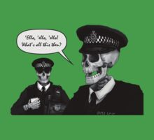 Skeleton Police (Green) by Malcolm Kirk