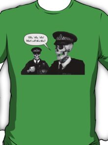 Skeleton Police (Green) T-Shirt