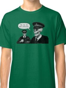 Skeleton Police (Green) Classic T-Shirt