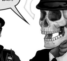Skeleton Police (Green) Sticker