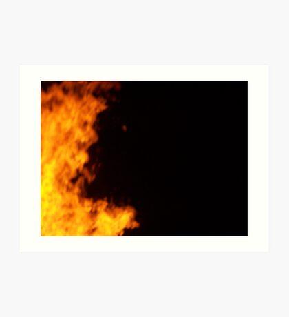 Demon in the Fire Stock Photo Art Print