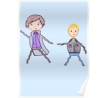 John and Sherlock on the Run Poster