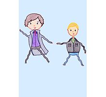 John and Sherlock on the Run Photographic Print