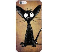 Funny Little Black Cat iPhone Case/Skin