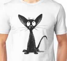 Funny Little Black Cat Unisex T-Shirt