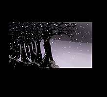 Dark trees and snow by steventhagreat