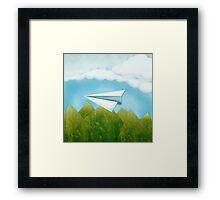 Paper AIrplane 46 Framed Print