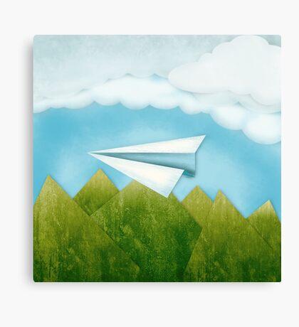 Paper AIrplane 46 Canvas Print